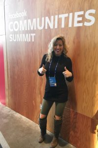 Kayleigh Spain Moore of Spain Commercial at Facebook Communities Summit 2019