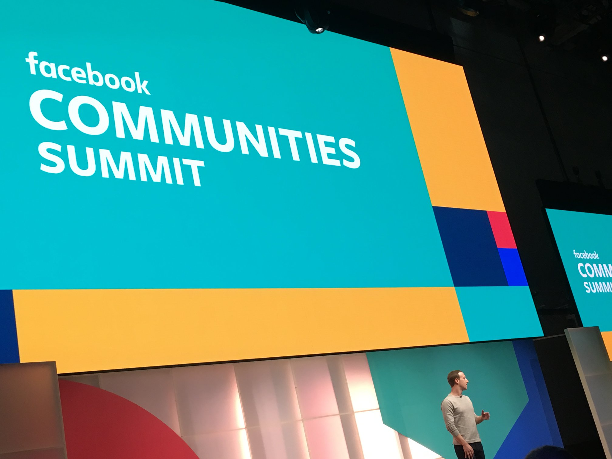 Mark Zuckerburg Presenting at Facebook Communities Summit